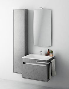 Duetto comp.04, Small bathroom cabinet with column