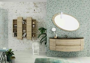 FREEDOM 05, Single wall-mounted HPL vanity unit with mirror
