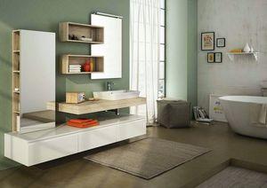 FREEDOM 20, Single melamine wall-mounted vanity unit with wardrobe