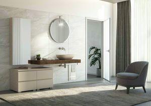FREEDOM 25, Single fir-cone vanity unit with towel rail