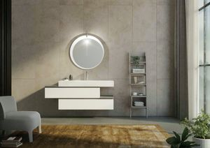 FREEDOM 34, Single wall-mounted vanity unit with drawers