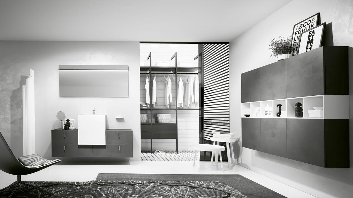 Bathroom furniture set in anthracite gray   IDFdesign