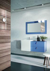 FUNKY FK-06, Matt blue bathroom cabinet