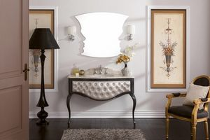 GLAM 02, Bathroom cabinet with marble top