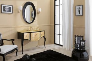 GLAM 03, Bathroom cabinet with crystal top