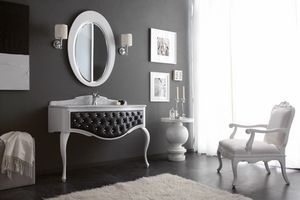 GLAM 04, Bathroom cabinet with white marble top