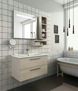 HARLEM H14, Wall-mounted vanity unit with drawers