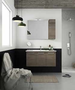 HARLEM H19, Wall-mounted vanity unit with doors