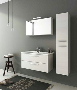 HARLEM H20, Wall-mounted vanity unit with drawers