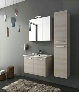 HARLEM H7, Wall-mounted vanity unit with doors