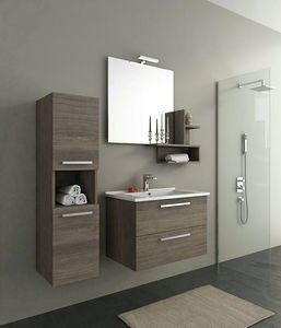 HARLEM H8, Wall-mounted vanity unit with drawers