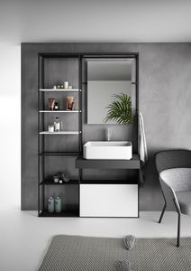 Lay 01, Bathroom cabinet with shelving