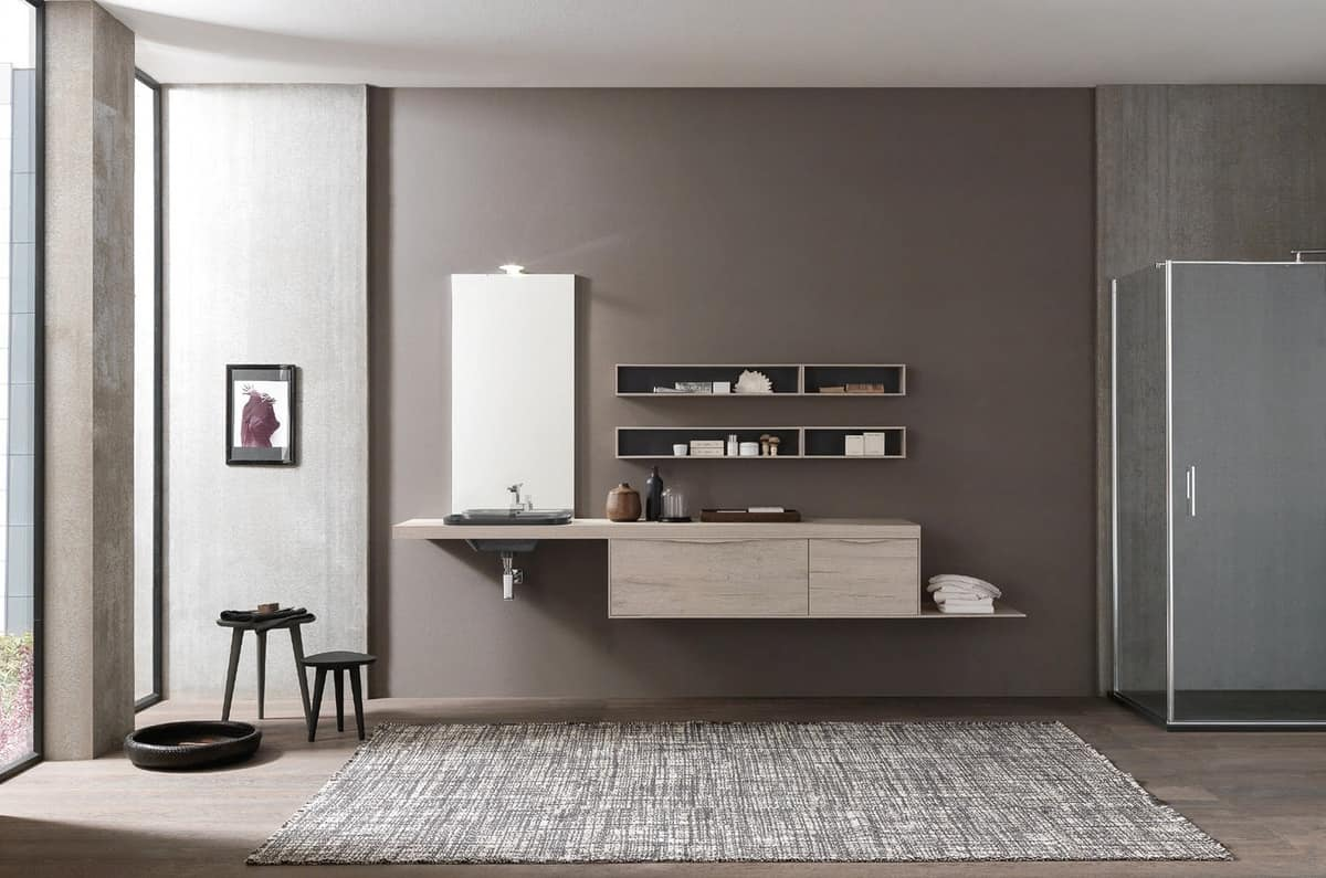 Bathroom cabinet with integrated handles | IDFdesign