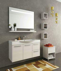 MANHATTAN M15, Wall-mounted wooden washbasin unit