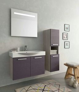 MANHATTAN M7, Wall-mounted vanity unit with doors