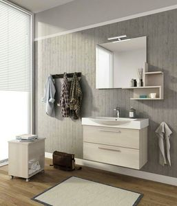 MANHATTAN M8, Wall-mounted vanity unit with drawers