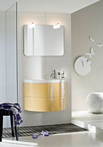 Moon comp.02, Suspended cabinet, for small bathrooms