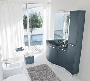 My Fly Evo comp.18, Sinuous design bathroom cabinet