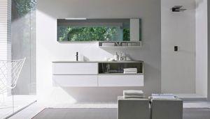 My seventy plus comp.07, Bathroom cabinet with sandblasted glass top