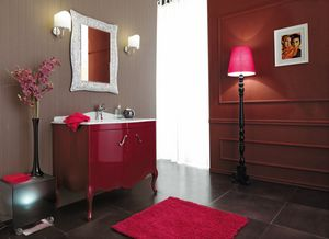 NARCISO 02, Lacquered vanity unit with doors