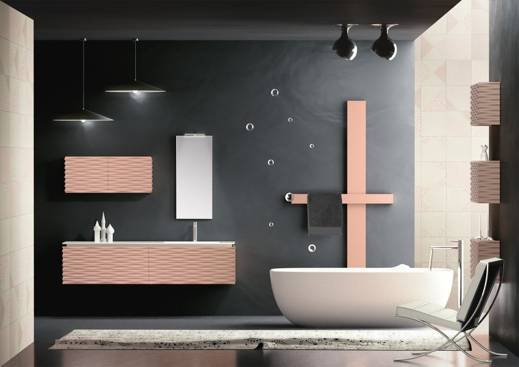 Plane 3D 07, Bathroom cabinet with integrated sink
