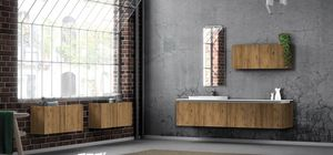 Plane ancient essences 02, Bathroom furniture with antique wood essences