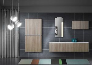 Plane Tecno 02, Bathroom cabinet with a clean design