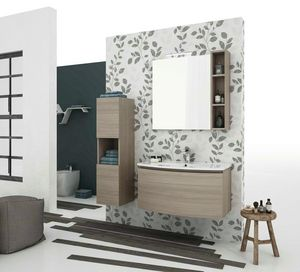 ROUND 02, Wall-mounted vanity unit with drawers