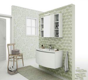 ROUND 03, Wall-mounted vanity unit with drawers