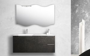 Singoli S 30, Bathroom cabinet with integrated sink