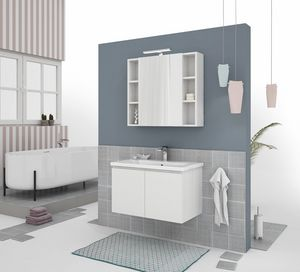 SOFT 02, Wall-mounted vanity unit with doors