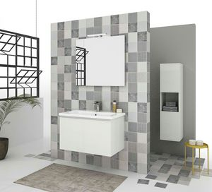 SOFT 03, Wall-mounted vanity unit with drawers