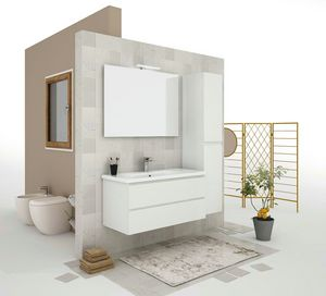 SOFT 05, Wall-mounted vanity unit with drawers