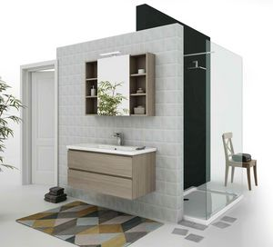 SOFT 06, Wall-mounted vanity unit with drawers