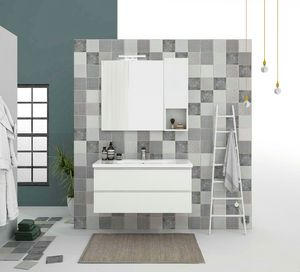 SOFT 07, Wall-mounted vanity unit with drawers