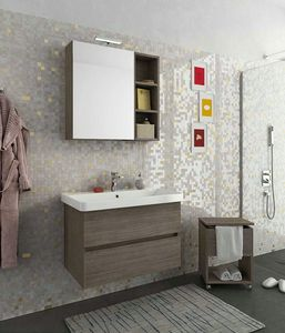 SOHO S1, Wall-mounted vanity unit with drawers