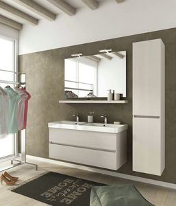 SOHO S15, Wall-mounted vanity unit with drawers