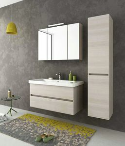 SOHO S8, Wall-mounted vanity unit with drawers