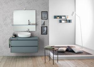 Summit 2.0 comp.04, Bathroom cabinet with countertop washbasin