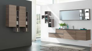 SWING SW-01, Complete furniture for dark elm bathroom