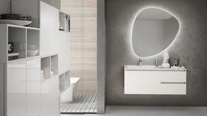 SWING SW-11, Glossy white bathroom cabinet