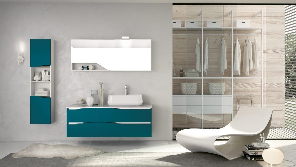 Arredamento Color Petrolio modular bathroom furniture | idfdesign