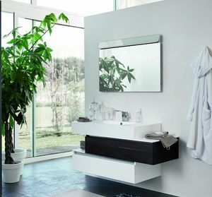 SWING SW-20, Bathroom cabinet in dark walnut