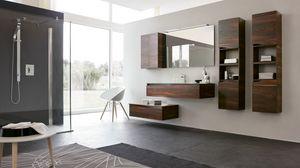 SWING SW-27, Modern furniture for dark walnut bathroom