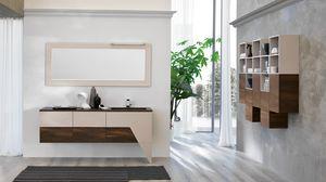 TEKNO TK-01, Bathroom furniture in light walnut