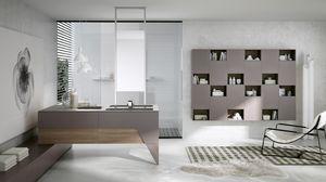 TEKNO TK-02, Bathroom furniture with peninsula