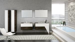 TEKNO TK-06, Bathroom furnishing composition with two mirrors