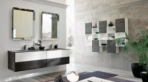 TEKNO TK-07, Complete bathroom furniture with two mirrors