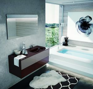 TEKNO TK-09, Bathroom cabinet with 4 drawers