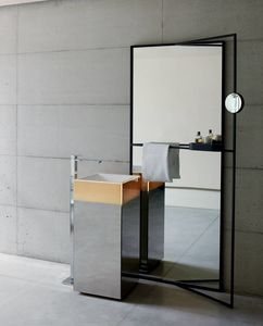 Upndino 421, Space saving mirror and washbasin